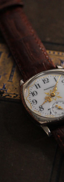 ウォルサムのアンティーク腕時計 十字が輝く金彩装飾 【1906年製】-W1500-1