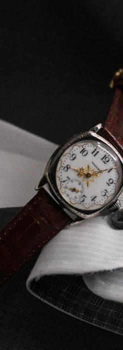 ウォルサムのアンティーク腕時計 十字が輝く金彩装飾 【1906年製】-W1500-12