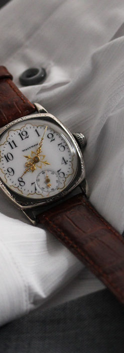 ウォルサムのアンティーク腕時計 十字が輝く金彩装飾 【1906年製】-W1500-13