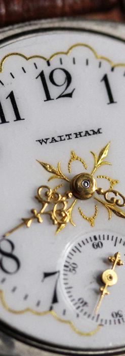 ウォルサムのアンティーク腕時計 十字が輝く金彩装飾 【1906年製】-W1500-18