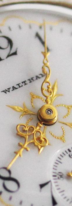 ウォルサムのアンティーク腕時計 十字が輝く金彩装飾 【1906年製】-W1500-2