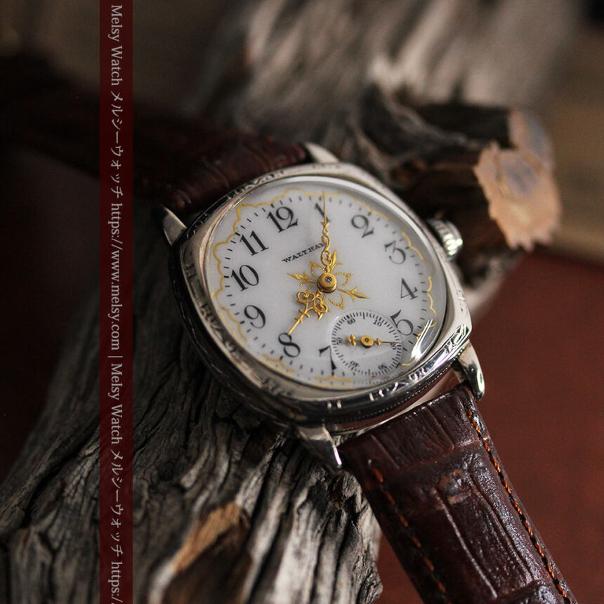 ウォルサムのアンティーク腕時計 十字が輝く金彩装飾 【1906年製】-W1500-3