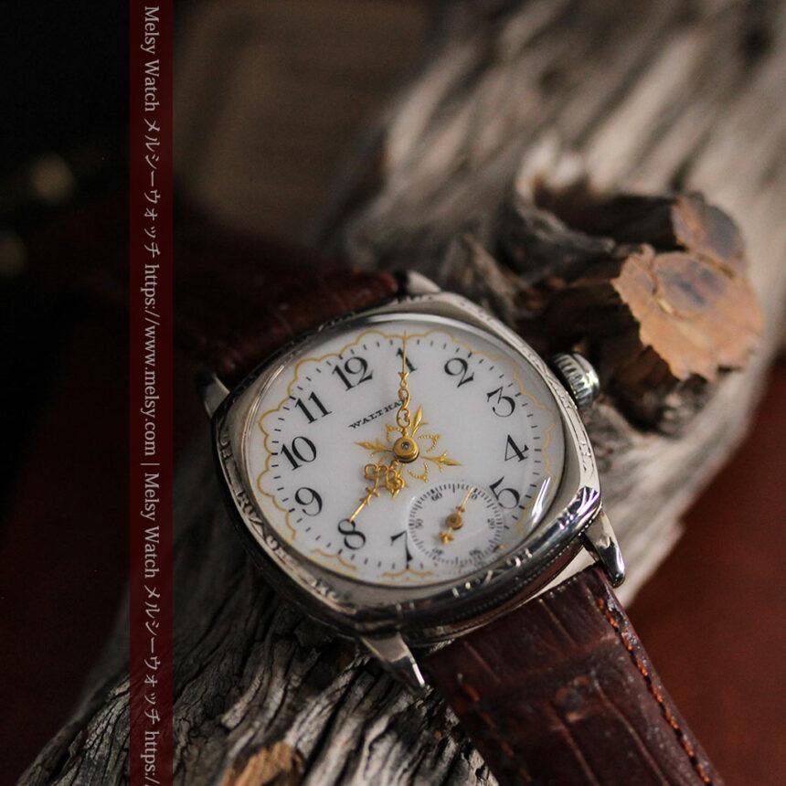 ウォルサムのアンティーク腕時計 十字が輝く金彩装飾 【1906年製】-W1500-4