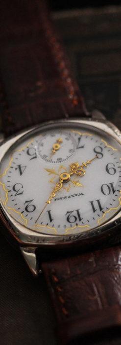 ウォルサムのアンティーク腕時計 十字が輝く金彩装飾 【1906年製】-W1500-5