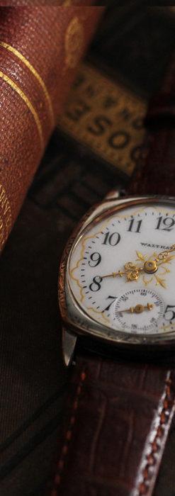 ウォルサムのアンティーク腕時計 十字が輝く金彩装飾 【1906年製】-W1500-6