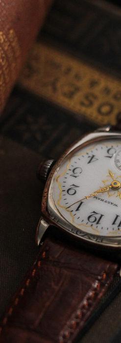 ウォルサムのアンティーク腕時計 十字が輝く金彩装飾 【1906年製】-W1500-7