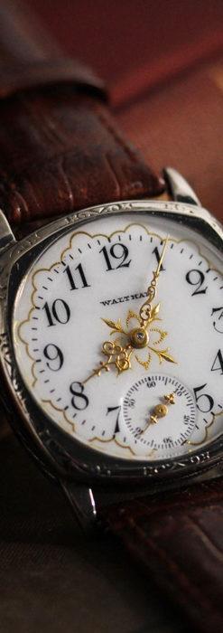 ウォルサムのアンティーク腕時計 十字が輝く金彩装飾 【1906年製】-W1500-8