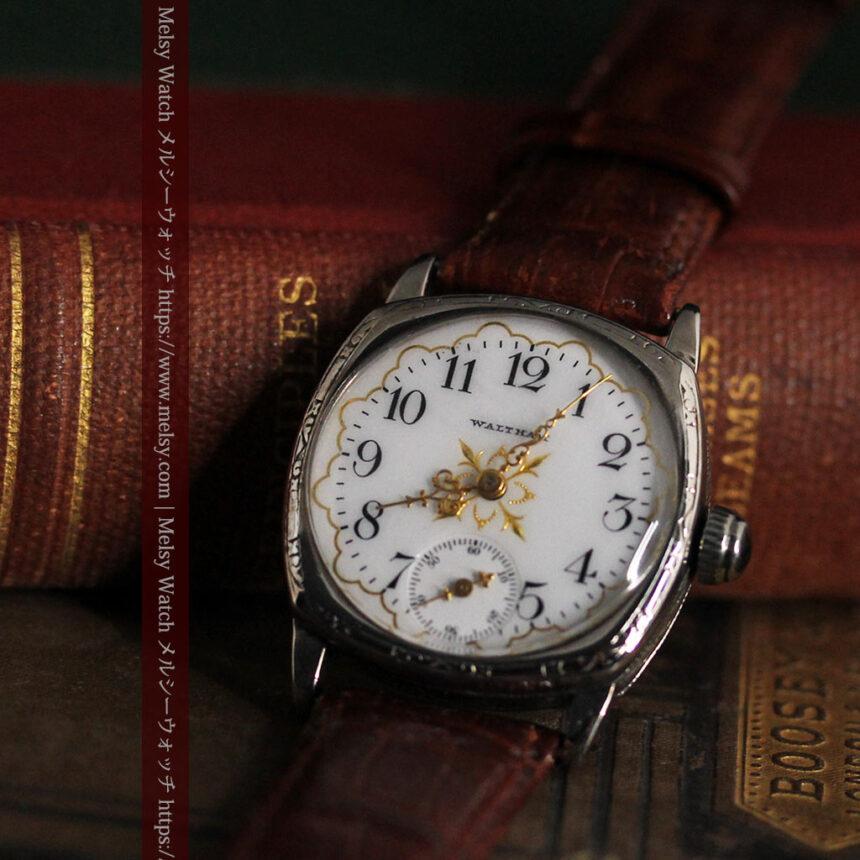 ウォルサムのアンティーク腕時計 十字が輝く金彩装飾 【1906年製】-W1500-9