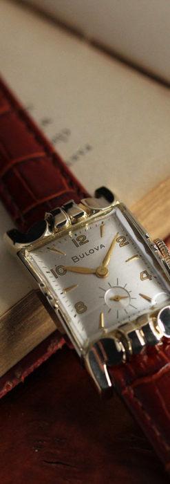 ブローバ 中世闘士の鎧兜のようなアンティーク腕時計-W1501-1