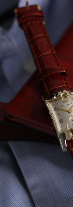 ブローバ 中世闘士の鎧兜のようなアンティーク腕時計-W1501-2