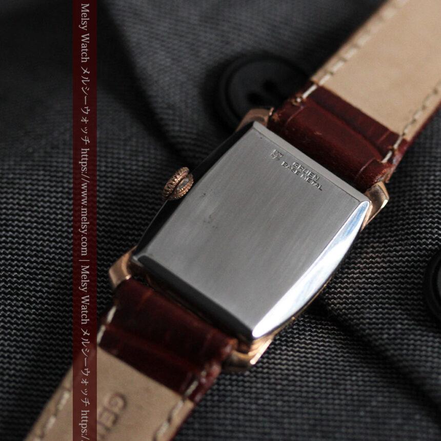 グリュエン ラッピング装飾されたようなローズ色の腕時計-W1502-13