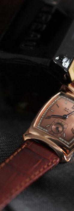 グリュエン ラッピング装飾されたようなローズ色の腕時計-W1502-3