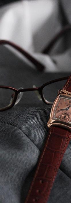 グリュエン ラッピング装飾されたようなローズ色の腕時計-W1502-6