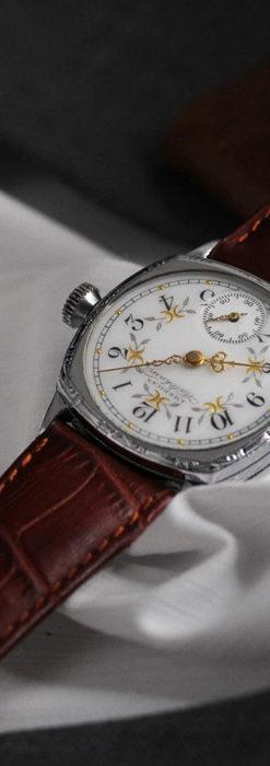ウォルサムのアンティーク腕時計 並び輝く三日月 【1900年製】-W1503-2