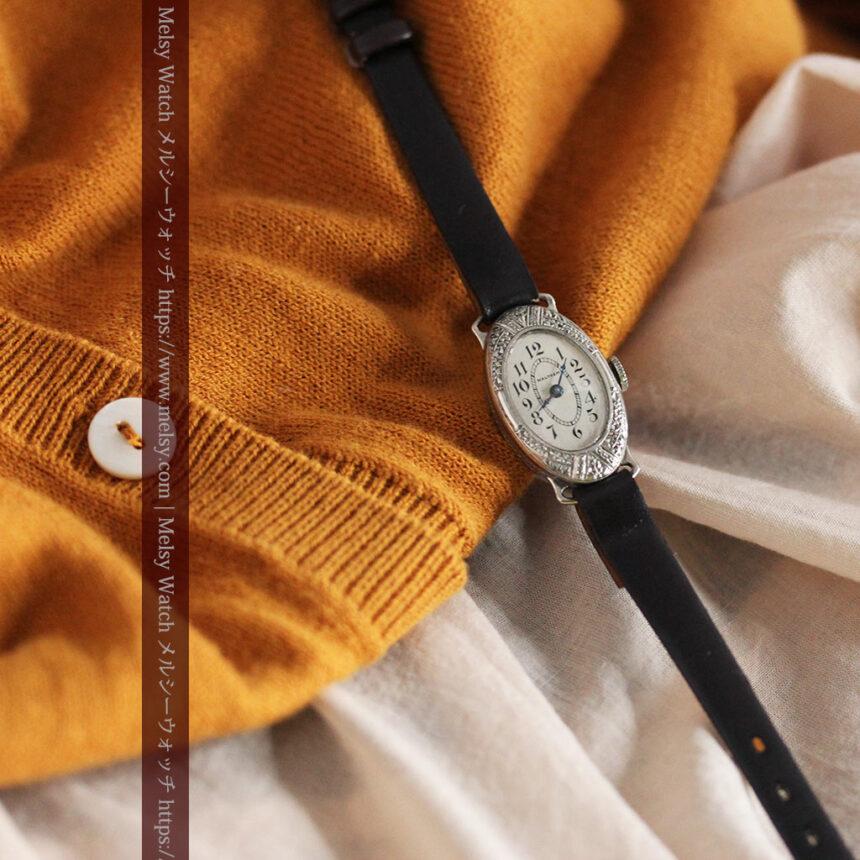 細工の綺麗なウォルサムの婦人物アンティーク腕時計 【1931年製】-W1504-11