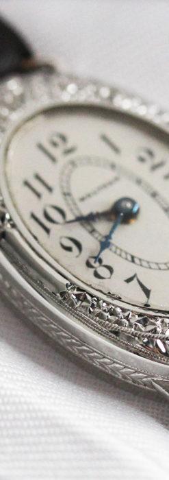 細工の綺麗なウォルサムの婦人物アンティーク腕時計 【1931年製】-W1504-4
