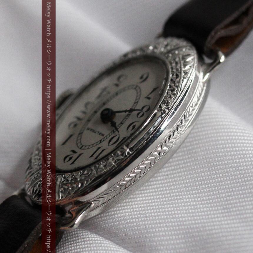 細工の綺麗なウォルサムの婦人物アンティーク腕時計 【1931年製】-W1504-5