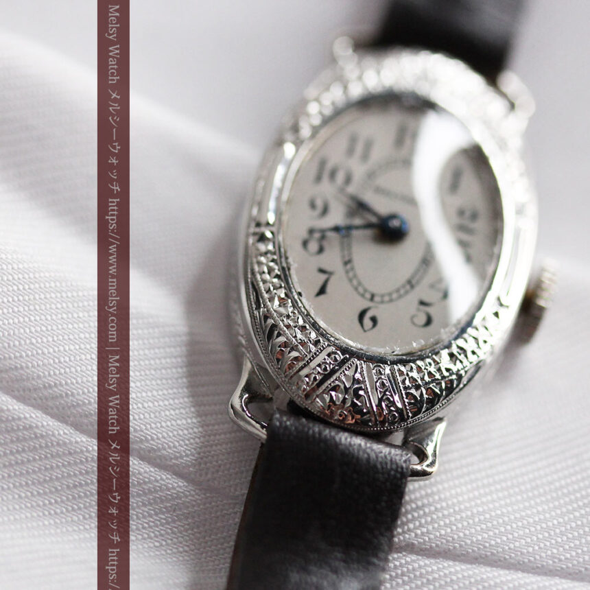 細工の綺麗なウォルサムの婦人物アンティーク腕時計 【1931年製】-W1504-6