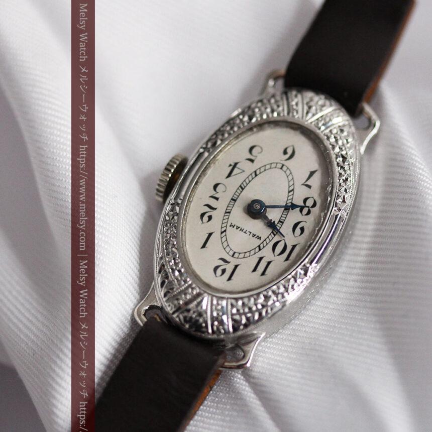 細工の綺麗なウォルサムの婦人物アンティーク腕時計 【1931年製】-W1504-7