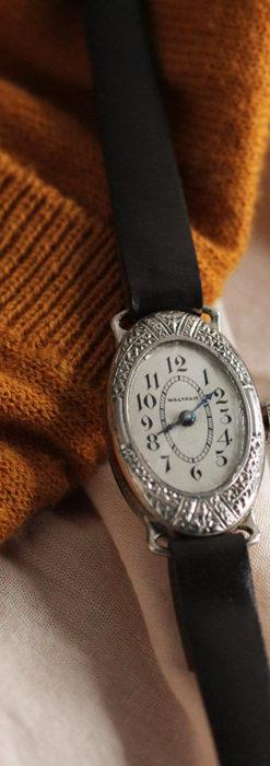 細工の綺麗なウォルサムの婦人物アンティーク腕時計 【1931年製】-W1504-9