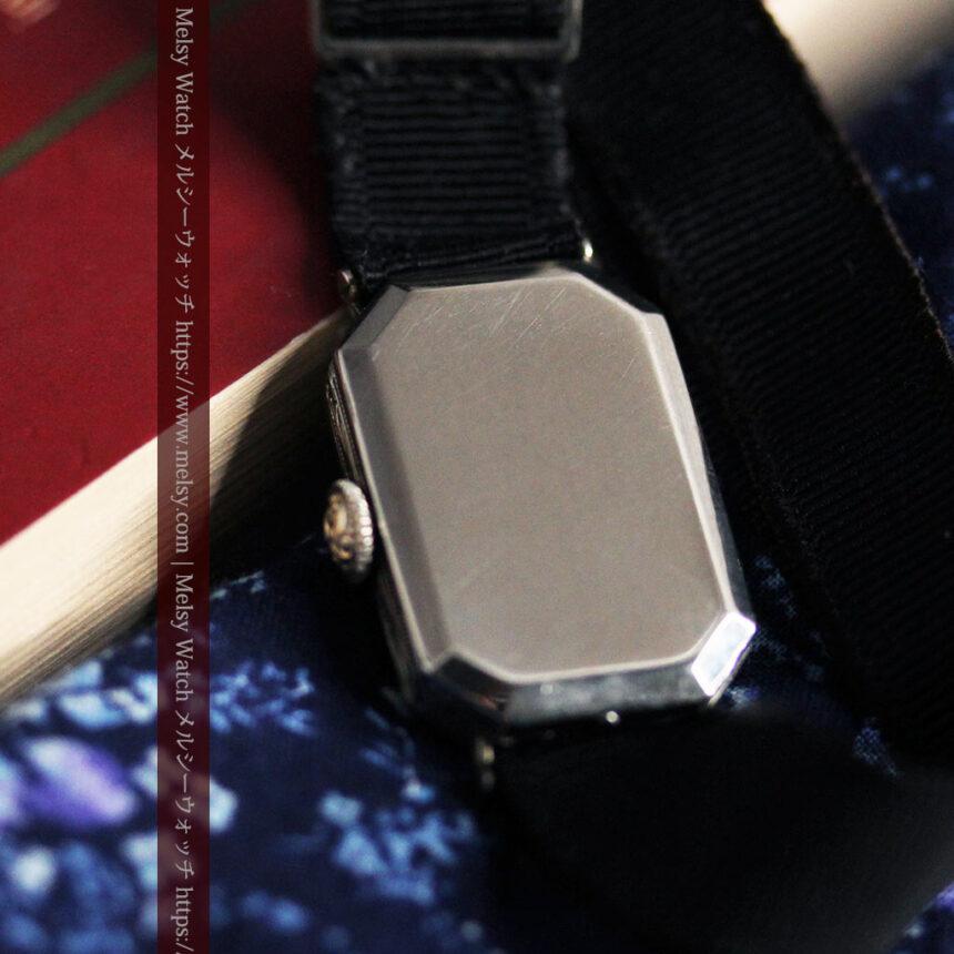 ロンジン 長八角形と布バンドの女性用アンティーク腕時計 【1926年製】-W1506-13