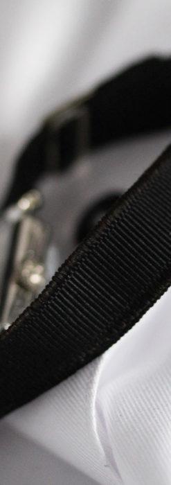 ロンジン 長八角形と布バンドの女性用アンティーク腕時計 【1926年製】-W1506-15