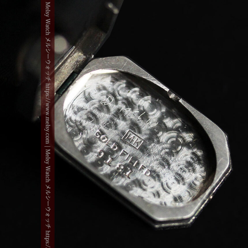 ロンジン 長八角形と布バンドの女性用アンティーク腕時計 【1926年製】-W1506-18