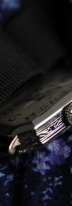 ロンジン 長八角形と布バンドの女性用アンティーク腕時計 【1926年製】-W1506-6