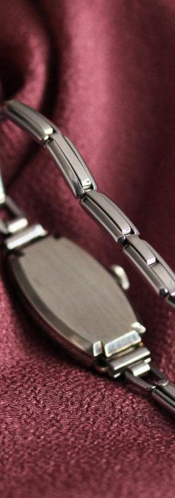 ウォルサムの上品な楕円形の女性用アンティーク腕時計 【1931年製】箱付き-W1507-13