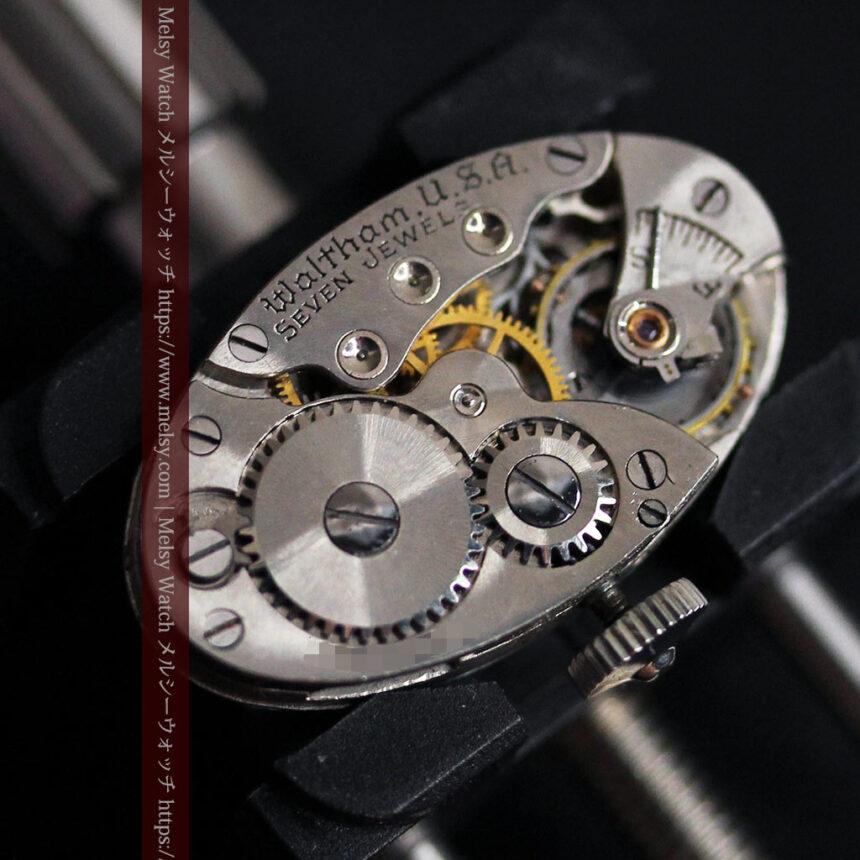 ウォルサムの上品な楕円形の女性用アンティーク腕時計 【1931年製】箱付き-W1507-15