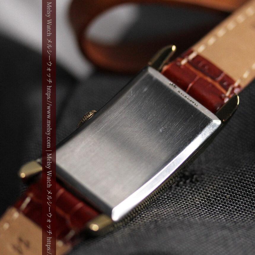 グリュエン アンティーク腕時計 カーブ&黒文字盤 【1937年頃】箱付き-W1508-16