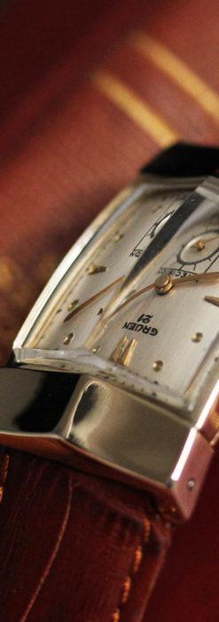 グリュエンの騎士の兜を彷彿とさせるアンティーク腕時計【1951年頃】-W1510-2