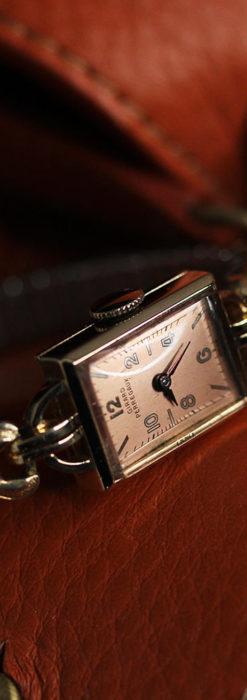 ジラールペルゴのコッパー色の上品な金無垢女性用アンティーク腕時計 【1940年頃】-W1515-12