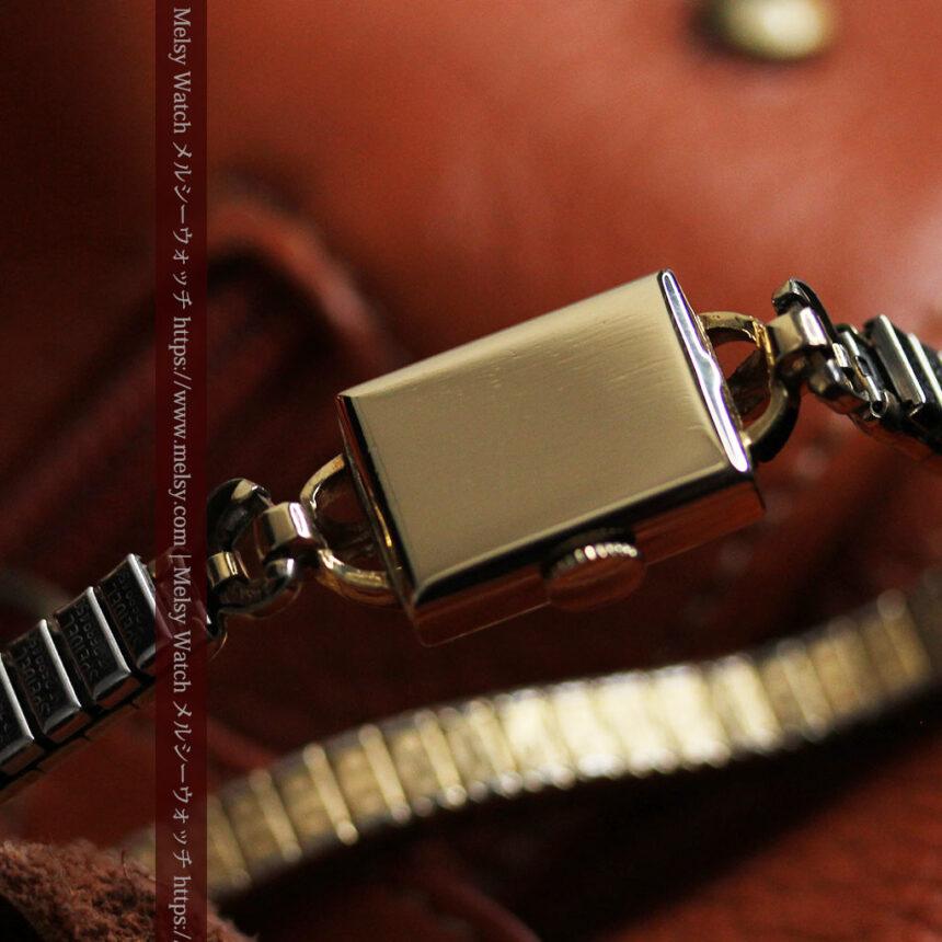 ジラールペルゴのコッパー色の上品な金無垢女性用アンティーク腕時計 【1940年頃】-W1515-14