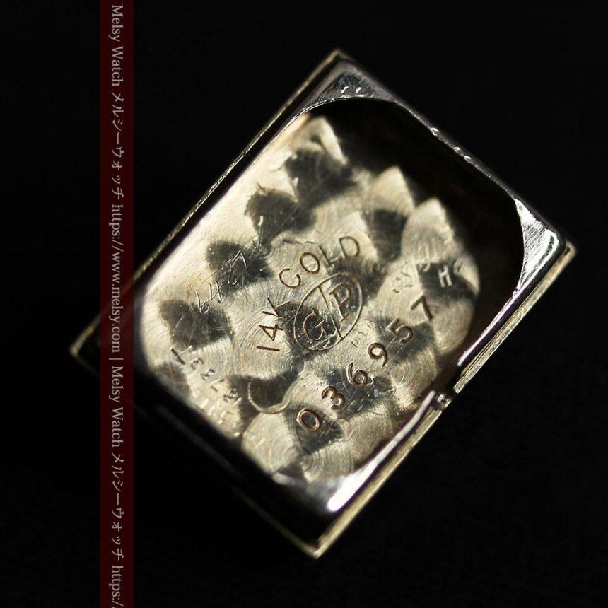 ジラールペルゴのコッパー色の上品な金無垢女性用アンティーク腕時計 【1940年頃】-W1515-15