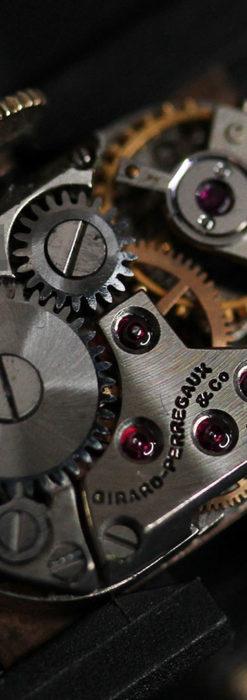 ジラールペルゴのコッパー色の上品な金無垢女性用アンティーク腕時計 【1940年頃】-W1515-16
