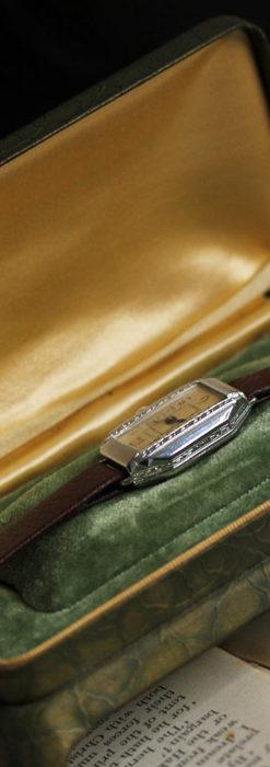 昭和初期の深みあるウォルサムの女性用アンティーク腕時計 【1934年製】箱付き-W1516-10