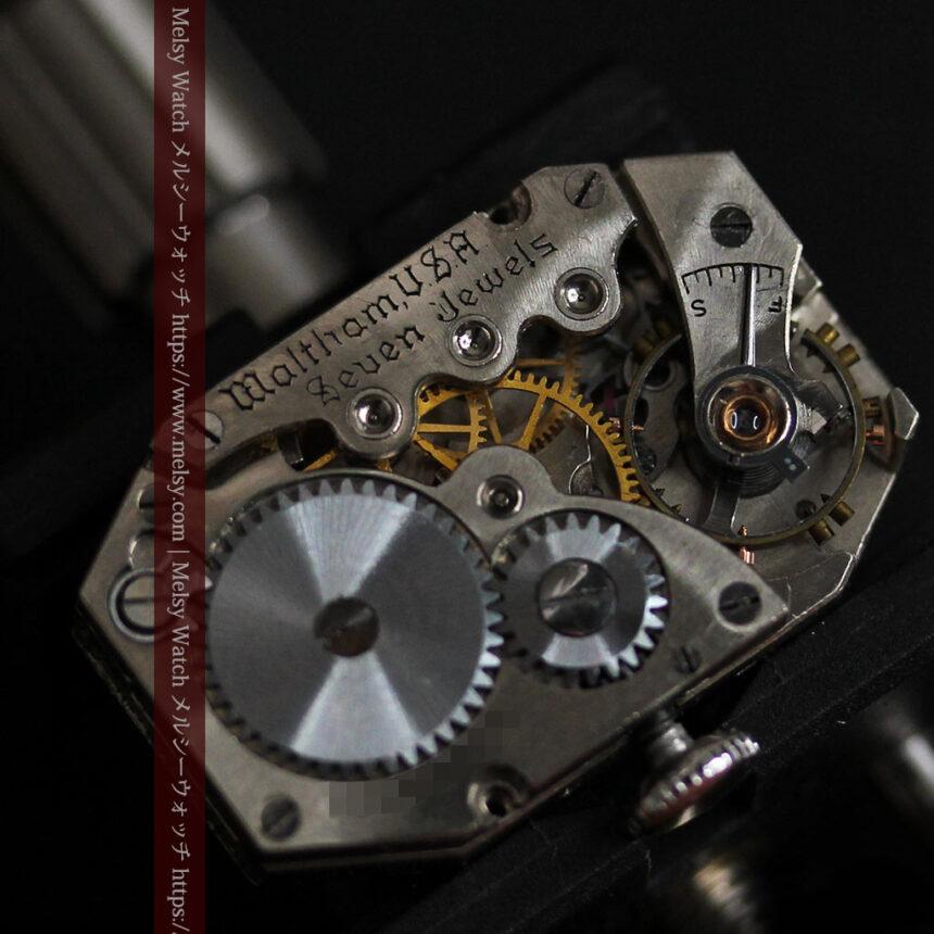 昭和初期の深みあるウォルサムの女性用アンティーク腕時計 【1934年製】箱付き-W1516-15