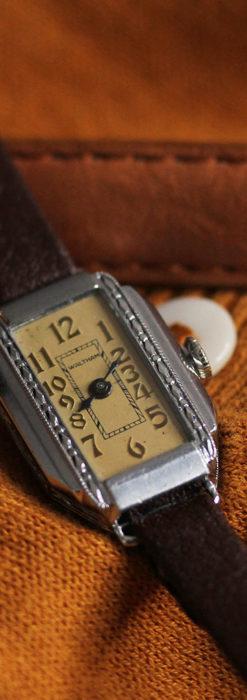 昭和初期の深みあるウォルサムの女性用アンティーク腕時計 【1934年製】箱付き-W1516-2