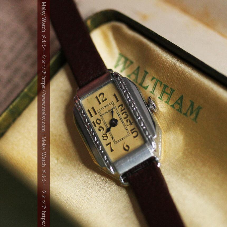 昭和初期の深みあるウォルサムの女性用アンティーク腕時計 【1934年製】箱付き-W1516-7