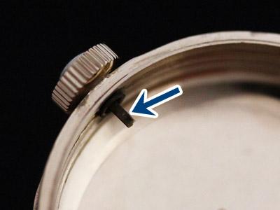 ケース側に固定された巻き芯