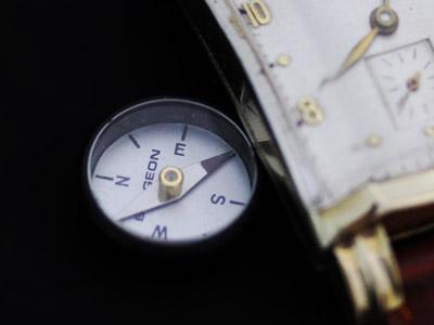 コンパスと腕時計