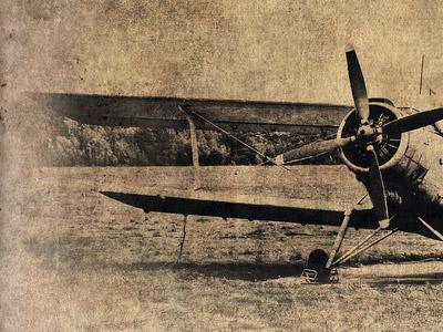 飛行機の古い印刷物