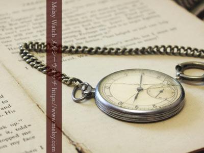 風防の割れた懐中時計