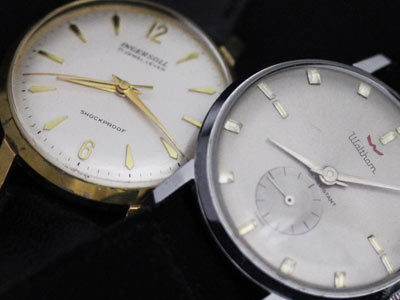 レトロ年代の腕時計