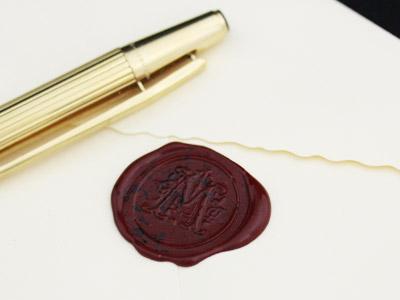 封蝋印とボールペン