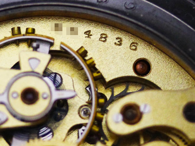 時計のシリアル番号