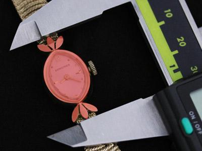 ラグを含んだ女性用の腕時計の計測
