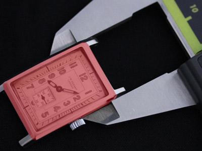 腕時計本体の横の長さの計測