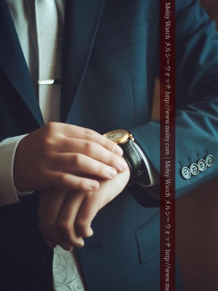 腕時計と紳士